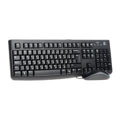 Набор проводной LOGITECH Desktop MK120, USB, клавиатура, мышь 2 кнопки+1 колесо-кнопка, 1000 dpi, черный
