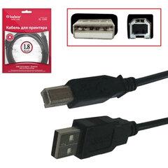 Кабель USB 2.0 AM-BM, 1,8 м, BELSIS, для подключения принтеров, МФУ и периферии