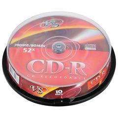 Диски CD-R VS, 700 Mb, 52x, 10 шт., Cake Box