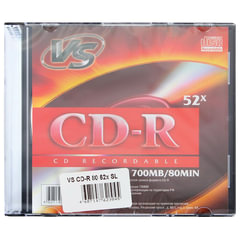 Диск CD-R VS, 700 Mb, 52x, Slim Case