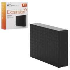 """Диск жесткий внешний SEAGATE Expansion, 2 ТВ, 3,5"""", USB 3.0, черный"""