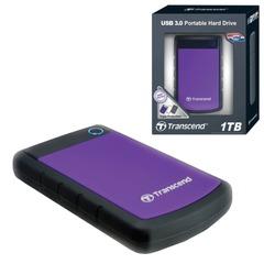 """Диск жесткий внешний TRANSCEND StoreJet 25H3P, 1 Tb, 2,5"""", USB 3.0, пластик, фиолетовый"""