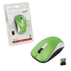 Мышь беспроводная GENIUS NX-7010, 2 кнопки + 1 колесо-кнопка, оптическая, зеленая