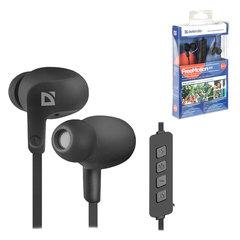 Наушники с микрофоном (гарнитура) DEFENDERFreeMotion B615, Bluetooth, беспроводная, вкладыши, черная