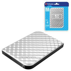 """Диск жесткий внешний VERBATIM Store 'n' Go, 1 TB, 2,5"""", USB 3.0, пластик, серебряный"""