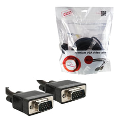 Кабель VGA, 20 м, GEMBIRD, 2 фильтра, для высокоскоростной передачи аналогового видео, CC-PPVGA-20M-B