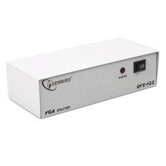 Разветвитель видеосигнала VGA GEMBIRD, 15F/15F, 1 ПК на 2 монитора, каскадируемый, GVS122