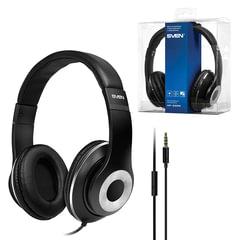 Наушники с микрофоном (гарнитура) SVEN AP-930M, провод 1,3 м, стерео, с оголовьем, черные