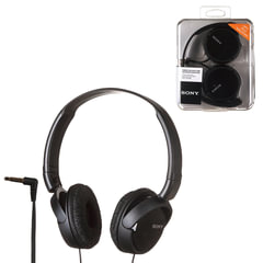 Наушники SONY MDR-ZX110, проводные, 1,2 м, стерео, полноразмерные с оголовьем, черные