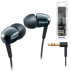 Наушники PHILIPS SHE3900BK/51, проводные, 1,2 м, стерео, вкладыши, черные