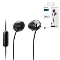 Наушники c микрофоном (гарнитура) PHILIPS SHE4205BK/00, проводные, 1,2 м, стерео, вкладыши, черные