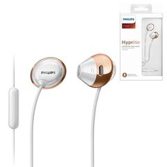 Наушники с микрофоном (гарнитура) PHILIPS SHE4205WT/00, проводные, 1,2 м, стерео, вкладыши, белые