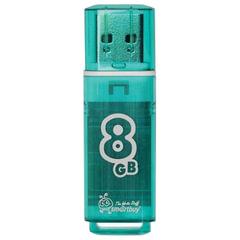 Флэш-диск 8 GB, SMARTBUY Glossy, USB 2.0, зеленый
