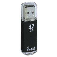 Флеш-диск 32 GB, SMARTBUY V-Cut, USB 2.0, металлический корпус, черный, SB32GBVC-K