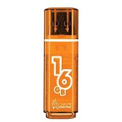 Флэш-диск 16 GB SMARTBUY Glossy USB 2.0, оранжевый