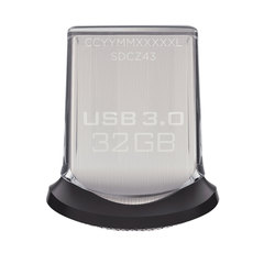 Флэш-диск 32 GB, SANDISK Ultra Fit USB 3.0, серебристый