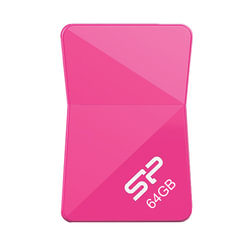 Флэш-диск 64 GB SILICON POWER Touch T08 USB 2.0, розовый