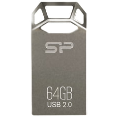 Флэш-диск 64 GB SILICON POWER Touch T50 USB 2.0, серебристый