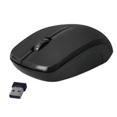 Мышь беспроводная DEFENDER MS-045, 2 кнопки + 1 колесо-кнопка, оптическая, чёрная