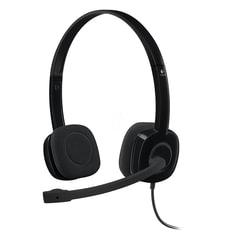 Наушники с микрофоном (гарнитура) LOGITECH H151, проводные, 1,8 м, с оголовьем, черные