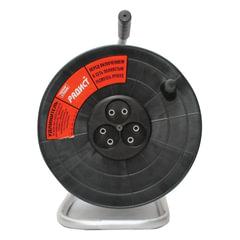 Удлинитель на катушке РАДИСТ РК16, 3 розетки без заземления, 30 м, 2х0,75 мм, 1300 Вт, черный