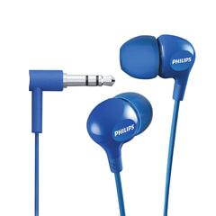 Наушники PHILIPS SHE3550BL/00, проводные, 1,2 м, стерео, вкладыши, голубые