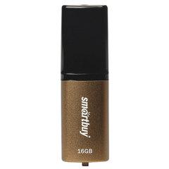 Флэш-диск 16 GB, SMARTBUY X-Cut, USB 2.0, коричневый/черный
