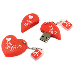 "Флэш-диск сувенирный 16 GB, SMARTBUY Wild ""Сердце"", USB 2.0"