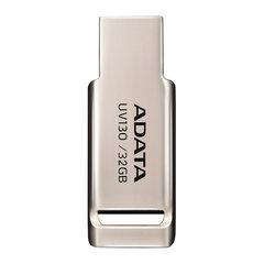 Флэш-диск 32 GB A-DATA DashDrive UV130, USB 2.0, металлический корпус, золотистый