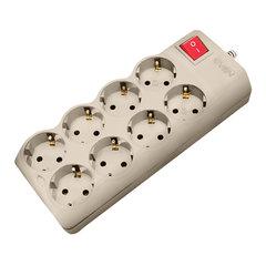 Сетевой фильтр SVEN Optima Pro, 8 розеток, 1,8 м, серый