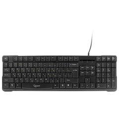 Клавиатура проводная GEMBIRD KB-8352U-BL, USB, 104 клавиши + 1 дополнительная клавиша, черная