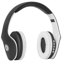 Наушники с микрофоном (гарнитура) DEFENDER FREEMOTION B525, Bluetooth, беспроводные, черные с белым