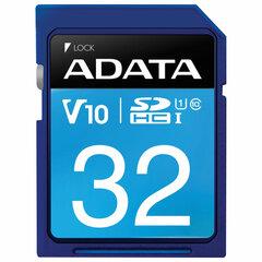 Карта памяти SDHC 32GB A-DATA Premier UHS-I U1, 100 Мб/сек (class 10), ASDH32GUICL10-R