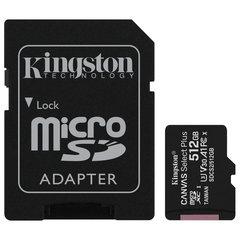 Карта памяти microSDXC 512 GB KINGSTON Canvas Select Plus UHS-I U3,100 Мб/с (class 10), адаптер, SDCS2/512GB