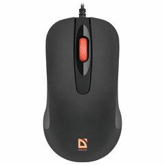 Мышь проводная DEFENDER Ultra Classic MB-280, USB, 2 кнопки+1 колесо-кнопка, черная, 52280