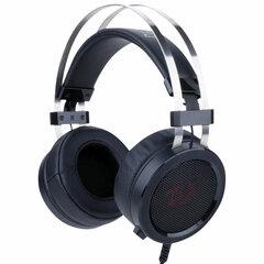 Наушники с микрофоном (гарнитура) REDRAGON Scylla, проводные, 2 м, полноразмерные с оголовьем, черные