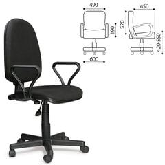 """Кресло """"Престиж"""", регулируемая спинка, с подлокотниками, черное, В-14"""