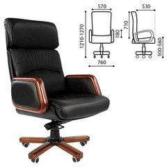 """Кресло офисное """"Президент"""", СН 417, кожа, черное"""