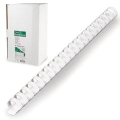 Пружины пластиковые для переплета, КОМПЛЕКТ 100 шт., 19 мм (для сшивания 121-150 л.), белые, FELLOWES