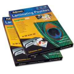 Пленки-заготовки для ламинирования FELLOWES, комплект 100 шт., для формата А4, 100 мкм
