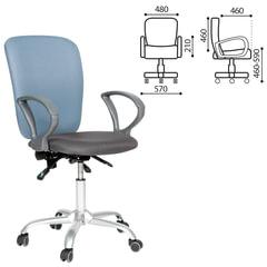 """Кресло """"Эрго-элегант"""", СН-9801, с подлокотниками, комбинированное (серое/синее)"""