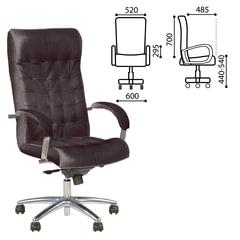 "Кресло офисное ""Lord steel chrome"", кожа, хром, черное"