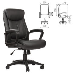 """Кресло офисное BRABIX """"Enter EX-511"""", экокожа, черное, 530859"""