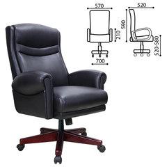 """Кресло офисное BRABIX PREMIUM """"Gladiator EX-700"""", дерево, натуральная кожа, черное"""
