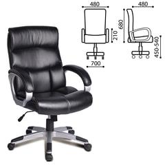 """Кресло офисное BRABIX """"Impulse EX-505"""", экокожа, черное"""