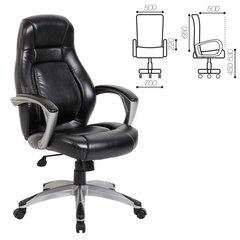 """Кресло офисное BRABIX """"Turbo EX-569"""", экокожа, спортивный дизайн, черное"""