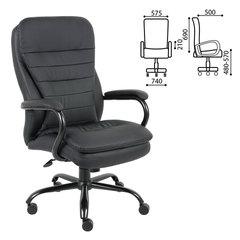 """Кресло офисное BRABIX PREMIUM """"Heavy Duty HD-001"""", усиленное, НАГРУЗКА до 200 кг, экокожа, 531015"""
