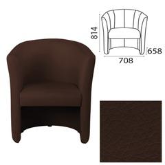 """Кресло """"Club"""", 708х658х814 мм, c подлокотниками, кожзам, темно-коричневое"""