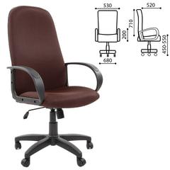 """Кресло офисное """"Фаворит"""", СН 279, высокая спинка, с подлокотниками, темно-коричневое"""