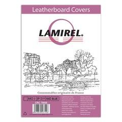 Обложки для переплета LAMIREL, комплект 100 шт., Delta (тиснение под кожу), А4, картонные 230 г/м2, синие